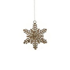 Украшение декоративное Снежинка шампань 10 см, House of Seasons