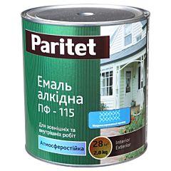 Эмаль алкидная ПФ-115К темно-серая 0,9кг, Paritet