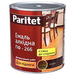 Эмаль половая ПФ-266К желто-коричневая 0,9кг, Paritet
