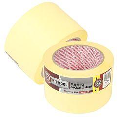 Лента малярная 72мм, 40м, желтая INTERTOOL DM-7240