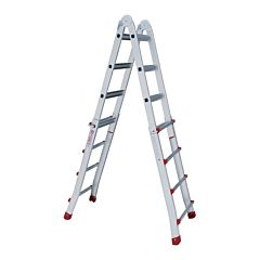 Лестница алюминиевая универсальная раскладная телескопическая 4x4 ступ. 4,20 м, LT-2044, INTERTOOL
