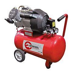 Компрессор 50 л, 4 HP, 3 кВт, 220 В, 8 атм, 420 л/мин, 2 цилиндр. PT-0007, INTERTOOL