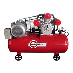 Компрессор 300 л, 11 кВт, 380 В, 8 атм, 1600 л/мин. 3 цилиндра, PT-0050, INTERTOOL