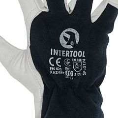 Перчатка кожаная SP-0174, INTERTOOL