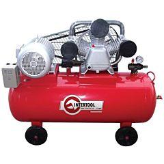 Компрессор 100 л, 5 HP, 4 кВт, 380 В, 8 атм, 600 л/мин. 3 цилиндра PT-0036, INTERTOOL