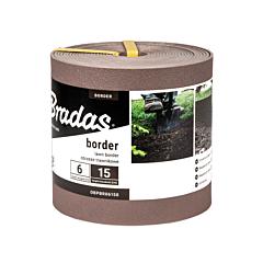Бордюр ровный Border 2,8 см коричневый, Bradas