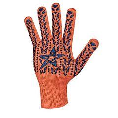 Перчатки с ПВХ Звезда оранжево-синие, 564, Doloni