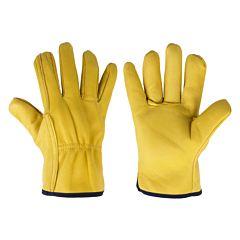 Перчатки защитные CORK TERM из козьей кожи на подкладке, блистер, размер 10,5, Bradas