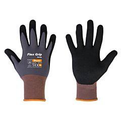 Перчатки защитные нитриловые, FLEX GRIP SANDY, Bradas