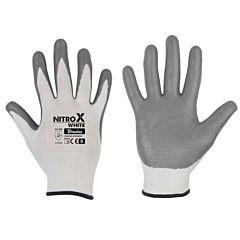Перчатки защитные NITROX WHITE нитрил, Bradas