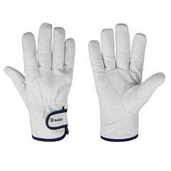 Защитные перчатки из козьей кожи со светлой подкладкой, WHITEBIRD, Bradas