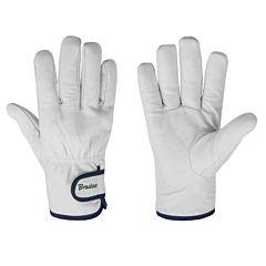 Защитные перчатки из козьей кожи со светлой подкладкой, WHITEBIRD TERMO, Bradas