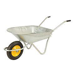 Тачка садовая одноколесная, литое колесо, грузоподъемность 180 кг, объем кузова 80 л, BudmonsteR
