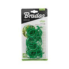 Зажимы для крепления растений, 2 размера, 40 шт, Bradas