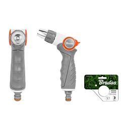 Металлический поливочный пистолет, регулируемый, WHITE LINE, Bradas